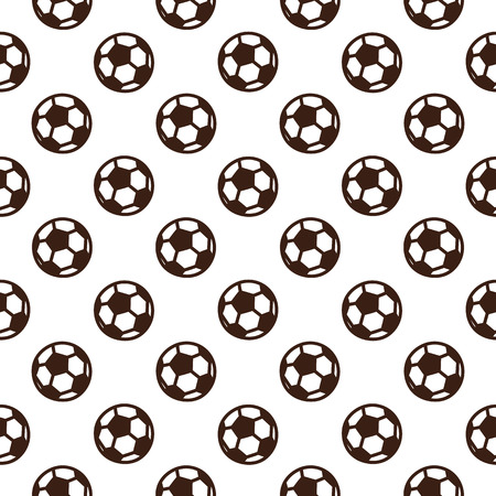 Ilustración de Football seamless pattern with soccer ball on a white background. It can be used for packaging, wrapping paper, textile and etc. - Imagen libre de derechos