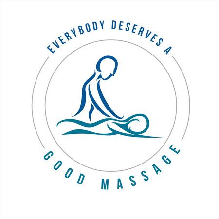 Ilustración de Vector Massage Illustration for multi usage like logo, t-shirt, advertisement or other - Imagen libre de derechos