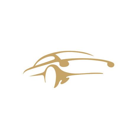 Illustration pour Minimal logo of car vector illustration - image libre de droit
