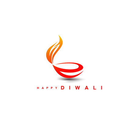 Illustrazione per Diwali diya on stylish vector illustration. - Immagini Royalty Free