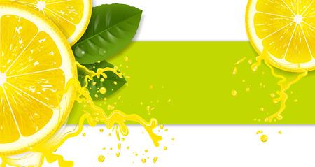 Ilustración de lemons with drops of juice - Imagen libre de derechos