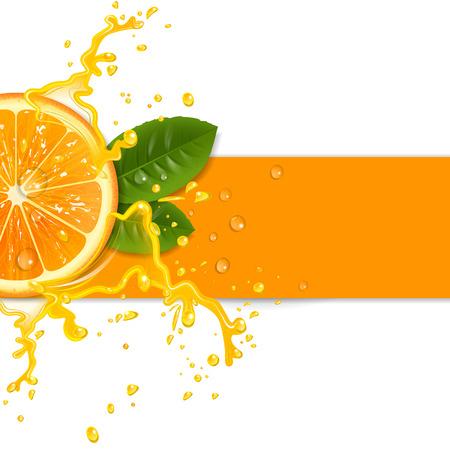 Illustration pour fresh orange background with splashes - image libre de droit