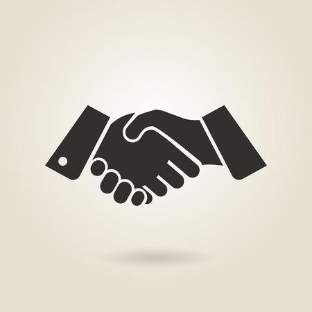 Illustration pour shaking hands on a light background - image libre de droit