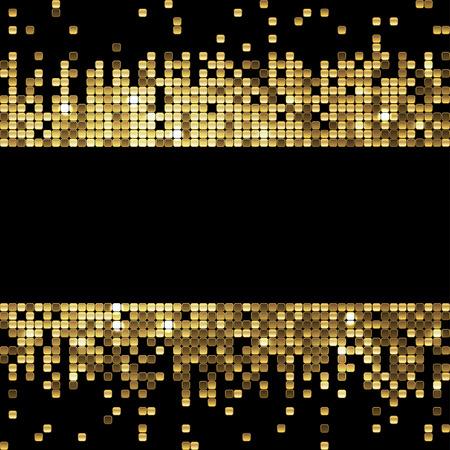Illustration pour sparkling gold sequins on a black background - image libre de droit