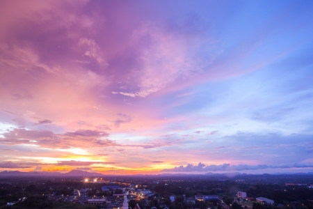 Photo for Beautiful Cityscape Sunset at Trang Thailand - Royalty Free Image