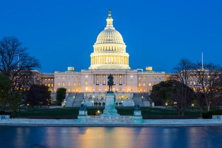 Photo for US Capitol Building at dusk, Washington DC, USA - Royalty Free Image