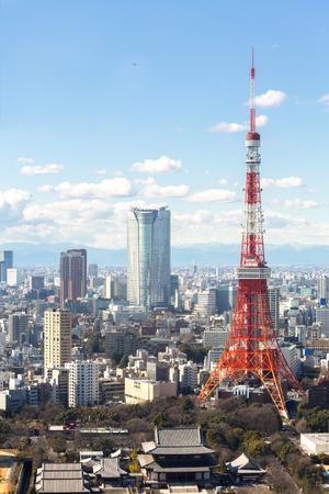 Photo pour Aerial view Tokyo Tower cityscape Japan - image libre de droit