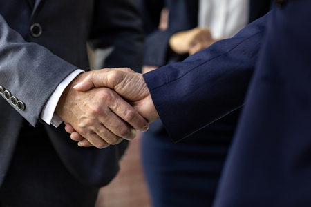 Photo for Handshake for Business deal Business Mergers and acquisitions Closeup - Royalty Free Image