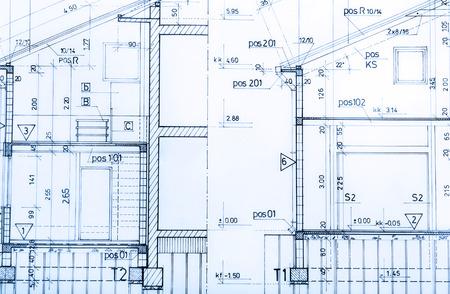 Foto de Architecture rolls architectural plans project architect blueprints real estate concept - Imagen libre de derechos