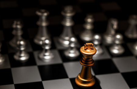 Photo for Stand out of a crowd individuality concept Odd Chess Piece - Royalty Free Image