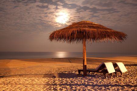 Foto de the sunset beach landscape photo - Imagen libre de derechos