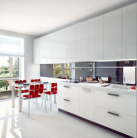 modern kitchen  interior concept  illustration
