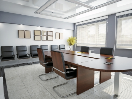 Photo for modern office interior  3D rendering  - Royalty Free Image