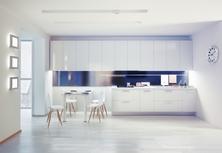 Photo pour modern kitchen interior. design concept - image libre de droit