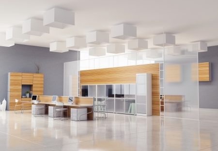 Photo pour the modern office interior design  - image libre de droit