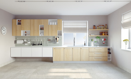 Photo for modern kitchen interior (CG concept) - Royalty Free Image