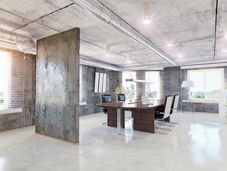 Photo pour modern office interior. 3d design concept - image libre de droit