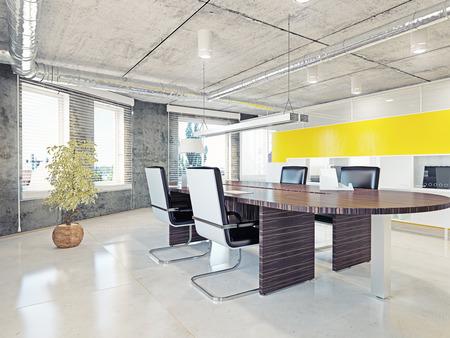Foto de modern office interior. 3d illustration design concept - Imagen libre de derechos