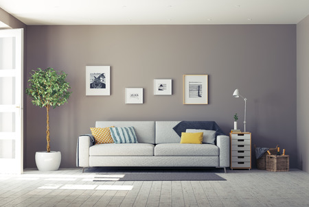 Photo pour modern interior.3d design concept - image libre de droit