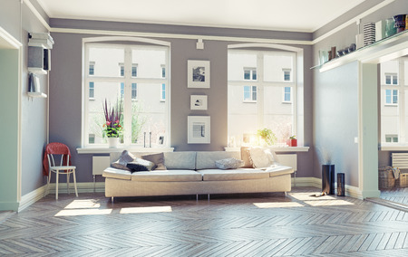 Photo pour the modern living room interior.3d design concept - image libre de droit