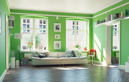 Photo pour the modern living room interior.3d design concept - image libre de droit