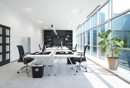 Foto für modern office interior. 3D rendering concept - Lizenzfreies Bild