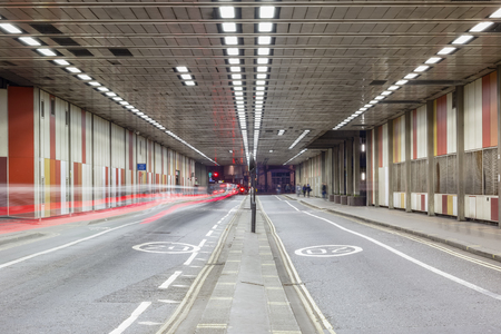 Photo for Beech Street tunnel in Barbican, City of London - Royalty Free Image