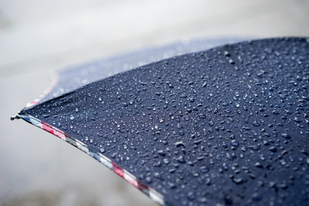 rain drops on the umbrella