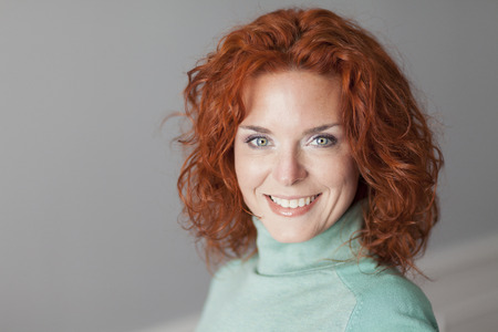 Photo for Portrait Of A Pretty Woman Smiling - Royalty Free Image