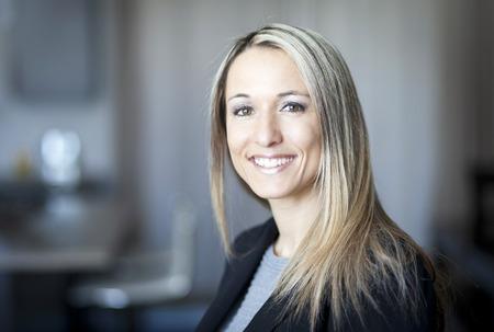 Foto de Blond Confident Businesswoman Working At Home - Imagen libre de derechos