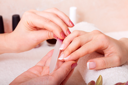 Photo pour manicure and pedicure. body care, spa treatments - image libre de droit