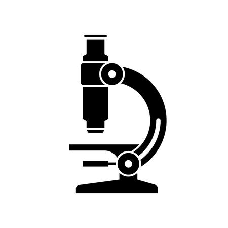Ilustración de Microscope black icon. - Imagen libre de derechos