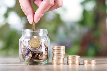 Photo pour concept of Financial saving - image libre de droit