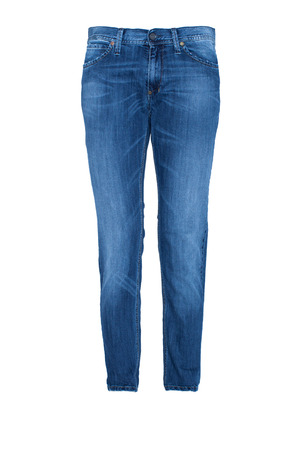 Photo for Pair of Blue Jeans Isolated on white - Royalty Free Image