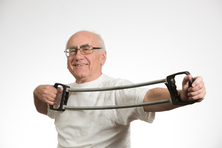 Photo for old senior man  happy and  doing sport - Royalty Free Image