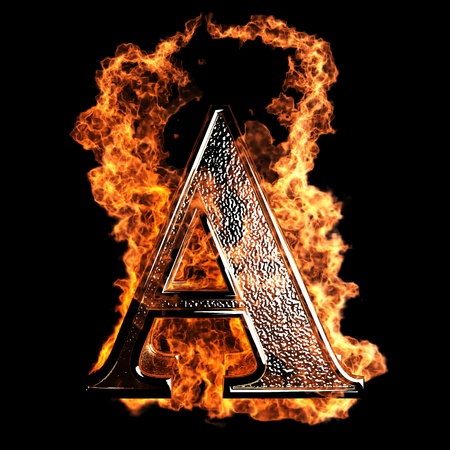 Photo pour burning Letter made in 3D graphics - image libre de droit