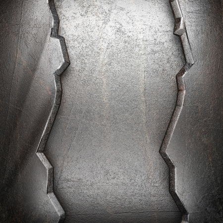 metal on wall made in 3d