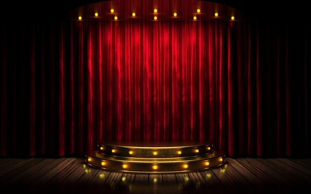 Photo for red curtain stage - Royalty Free Image