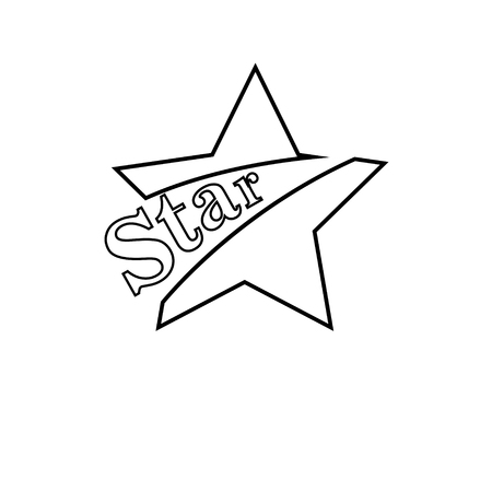 Illustration pour Star Icon vector. Rating symbol for web design - Vector - image libre de droit