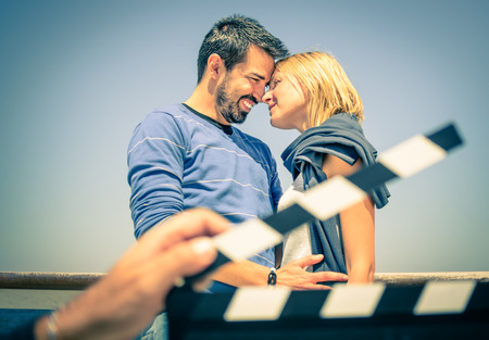 Photo for Couple in Love like in a Movie - Royalty Free Image