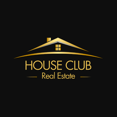 Illustration for House Club Real Estate Logo - Royalty Free Image