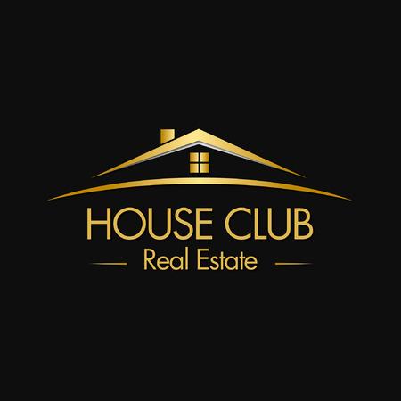 Ilustración de House Club Real Estate Logo - Imagen libre de derechos
