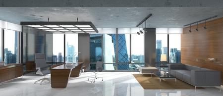 Photo pour Photorealistic 3d render of a office - image libre de droit