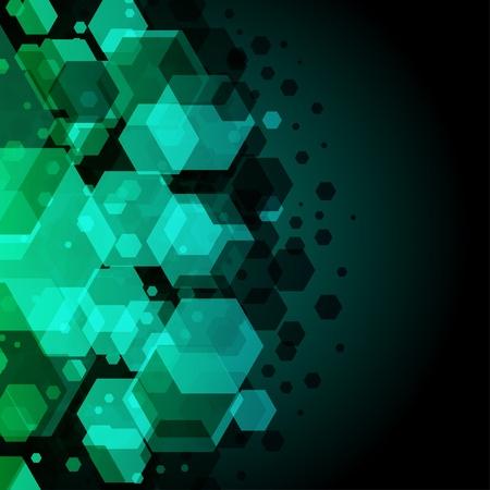 Foto de Abstract hexagon vector background - Imagen libre de derechos