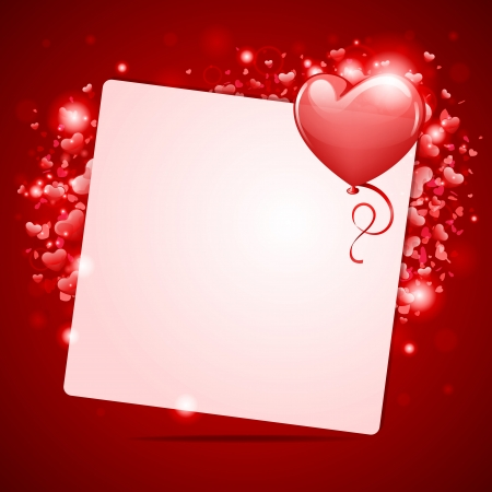 Valentine day vector background with hearts