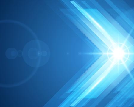 Illustration pour Abstract 3d technology lines with light vector background - image libre de droit