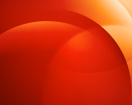 Ilustración de Orange smooth twist light bright wave lines vector abstract background - Imagen libre de derechos