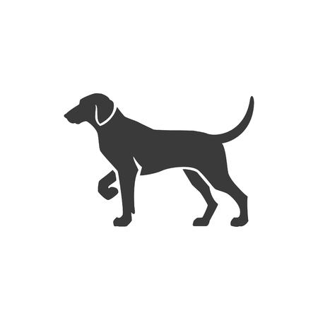 Ilustración de Dog Side View Isolated On White Background Vector object for Labels, Badges,    and other Design. - Imagen libre de derechos