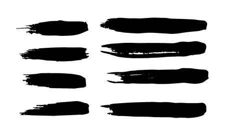 Ilustración de set of vector brush strokes for decor and logo.Set of grunge brush strokes - Imagen libre de derechos