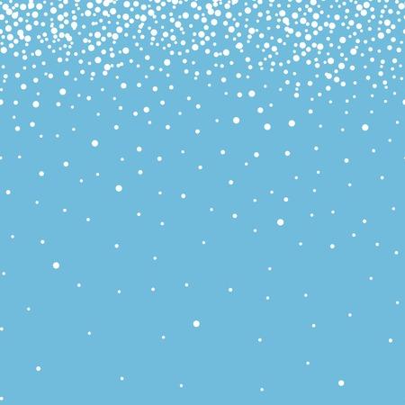 Illustration pour Winter blue background with snowflakes. Christmas decoration and design. snow seamless pattern. postcard vector illustration. - image libre de droit